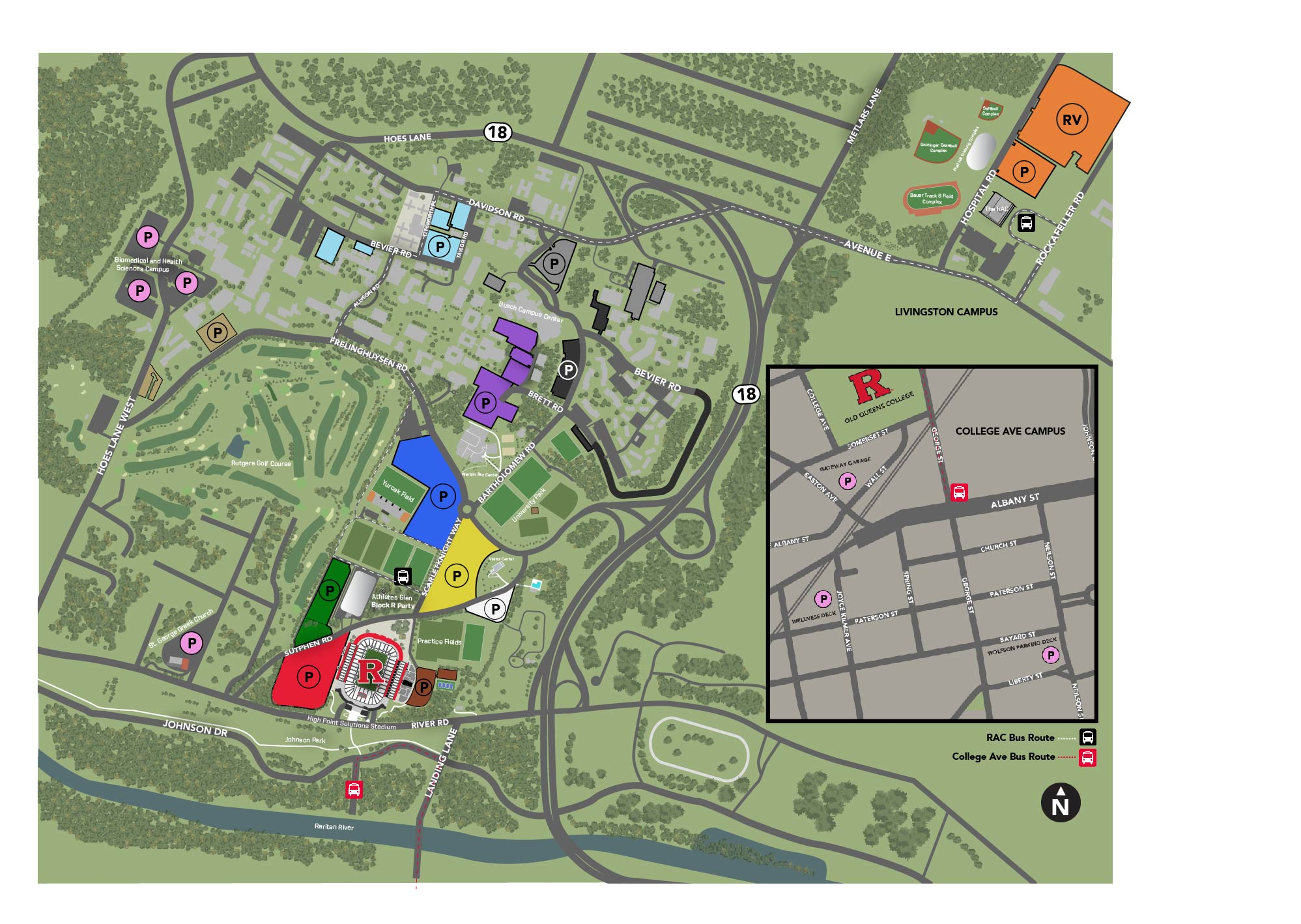 Rutgers Parking Map Football Parking and Traffic Patterns   Rutgers University Athletics Rutgers Parking Map